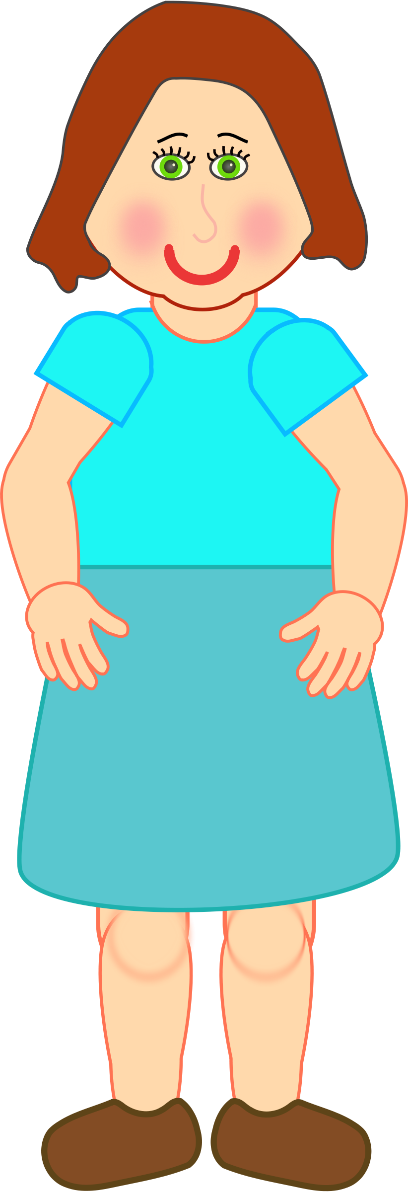 Woman standing clipart free.