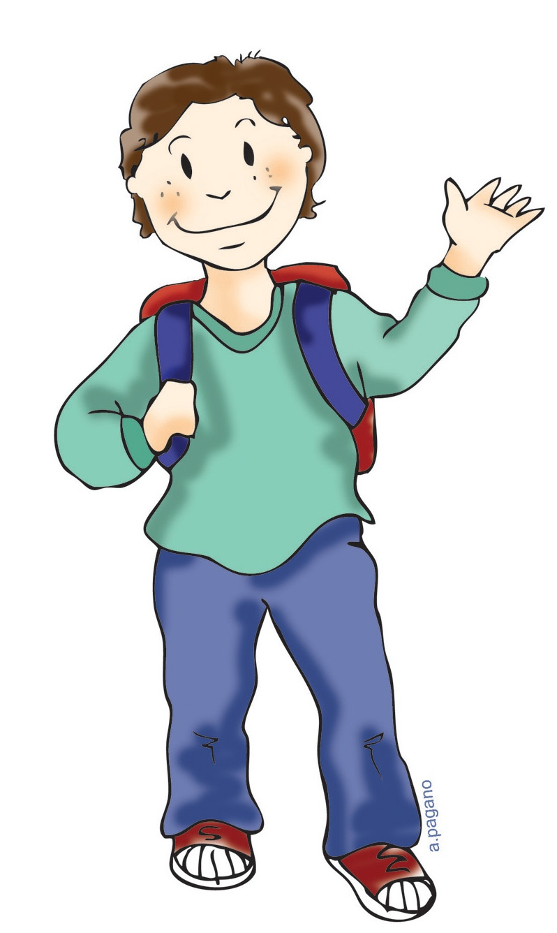 Free student standing clipart.