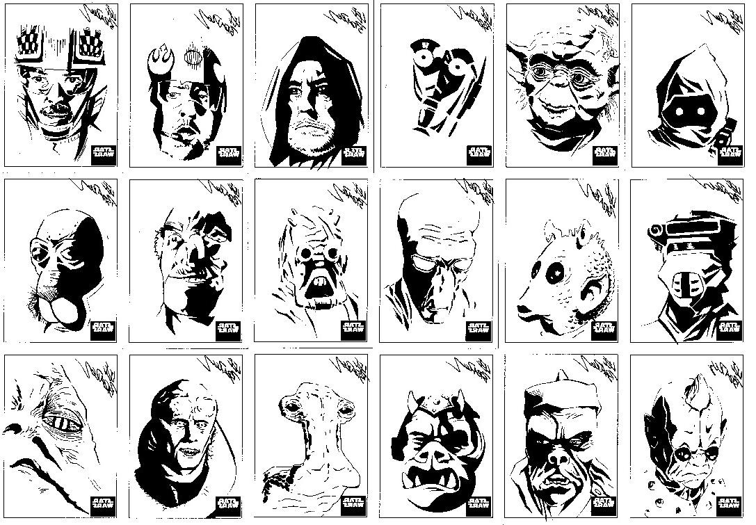 Top Star Wars Clip Art Black And White Images » Free Vector Art.