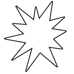 Starburst Clip Art Outline.