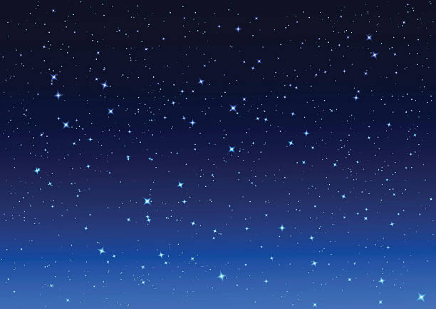 Starry Night Sky Clipart.