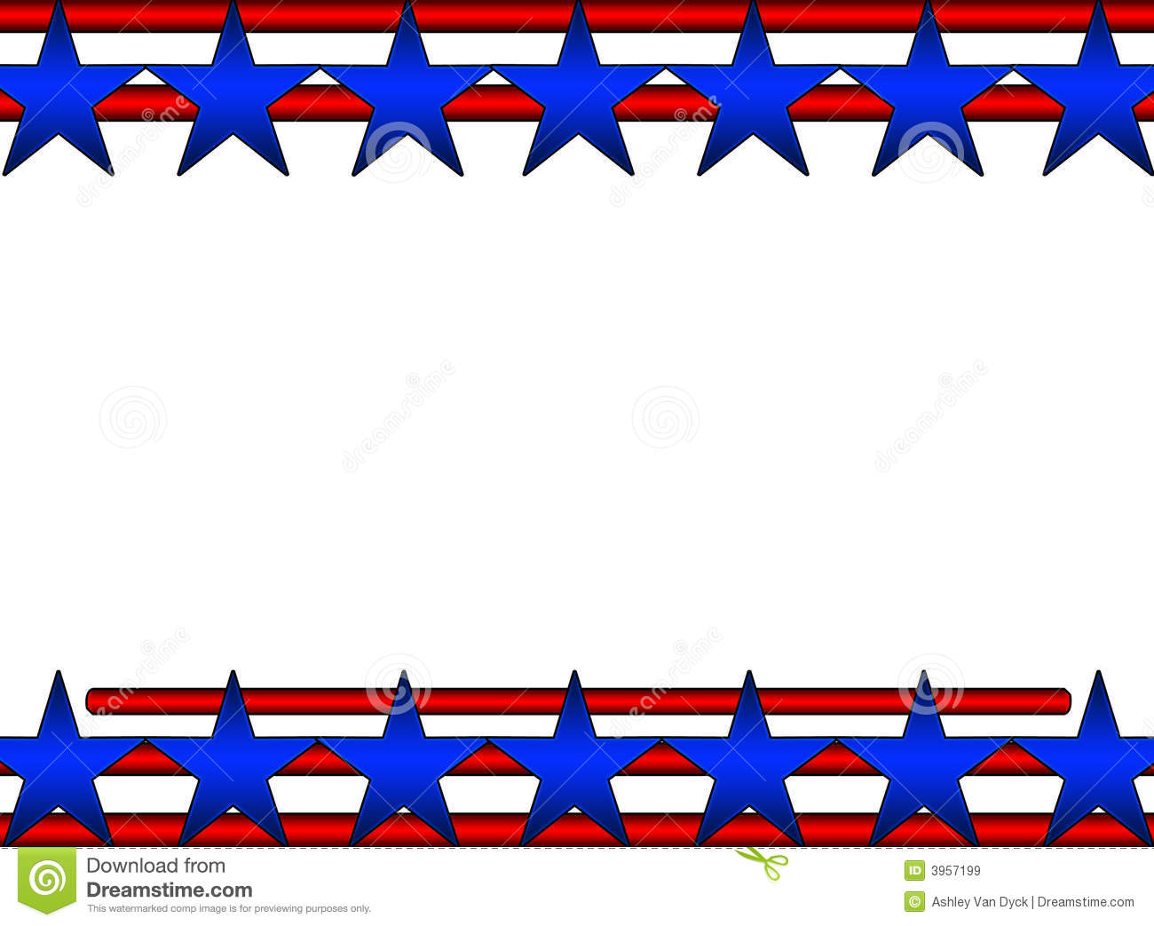 Stars And Stripes Background Stock Illustration.