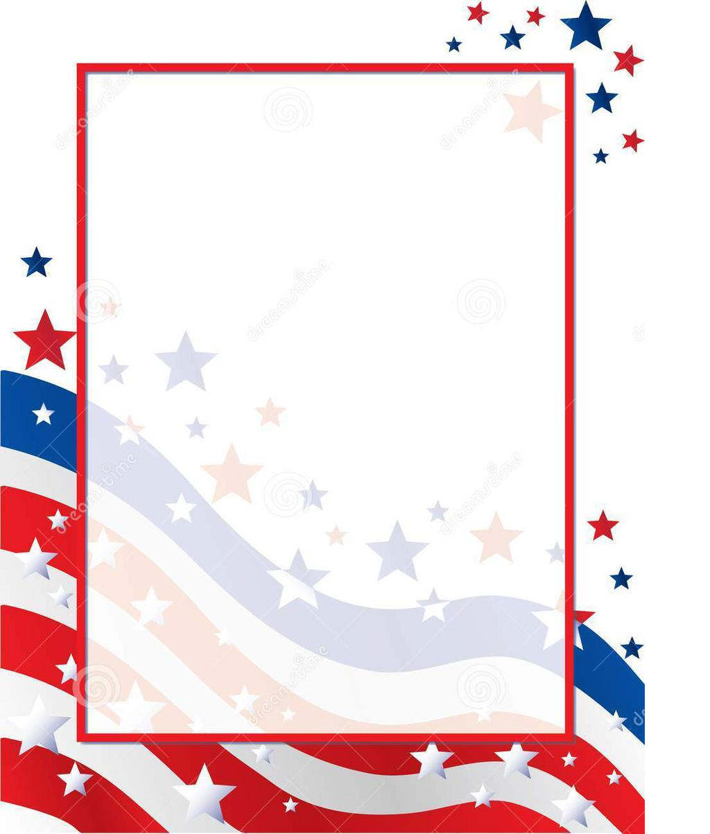 Stars And Stripes Border Clipart United Background Usa.