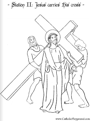Stations of the Cross Catholic Coloring Sheets. All fourteen pages.