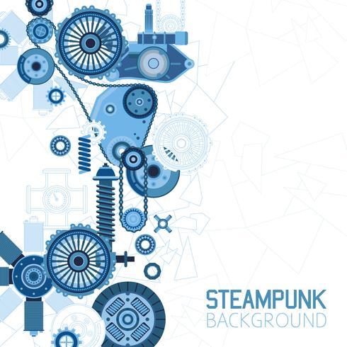 Steampunk Futuristic Background.