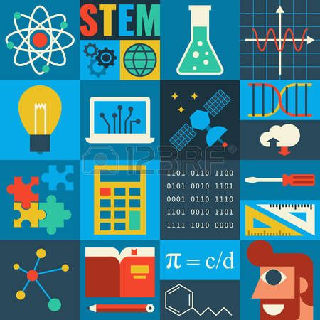 stem: Illustration of STEM education in apply science.