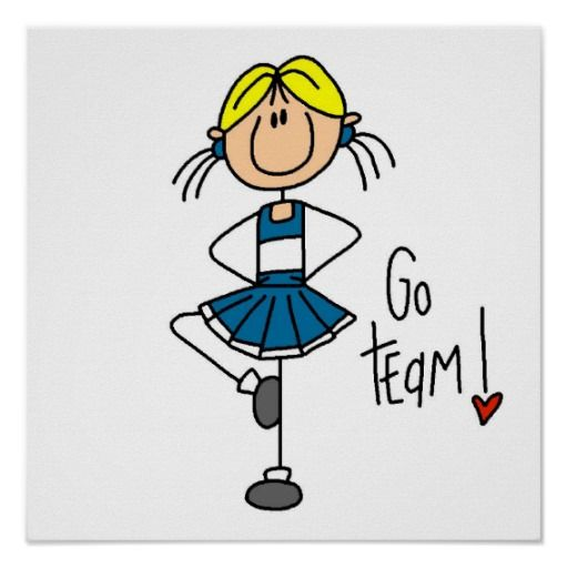 Awesome Cheerleader Clipart Stick Figure.