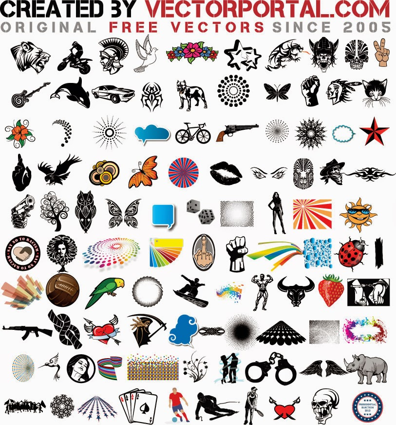 100 free stock vectors for commercial use.