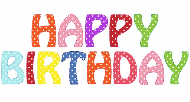 Happy Birthday Text Clipart Free Stock Photo.