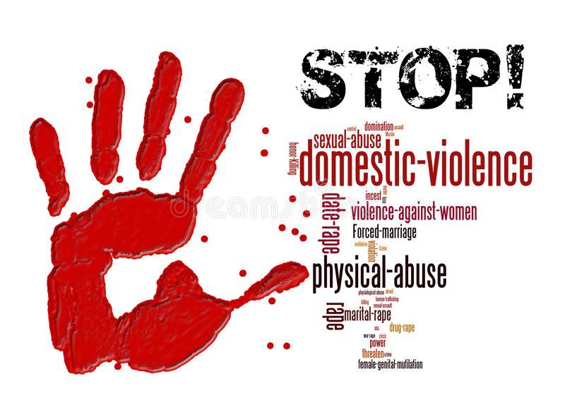 Stop Violence Stock Illustrations.