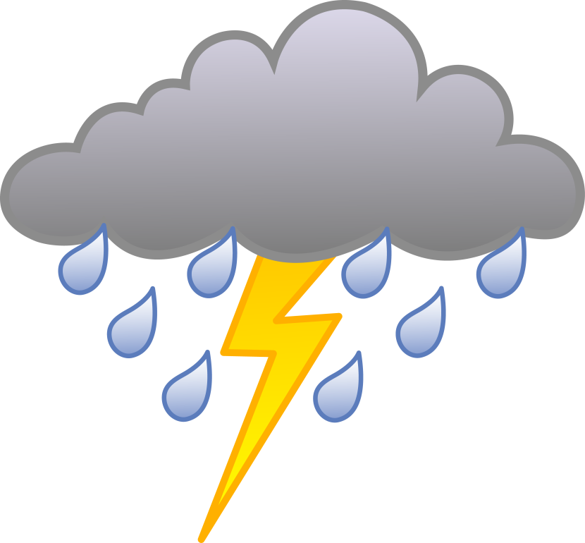 1332 Storm free clipart.