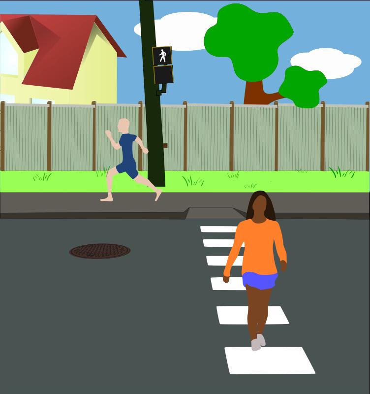 Free Clipart: Neighborhood Street.