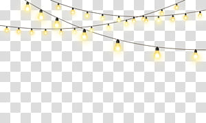 Christmas Graphics, string lights transparent background PNG clipart.