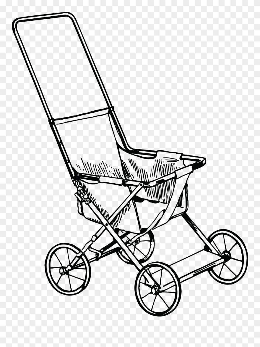 Free Clipart Of A Baby Stroller.