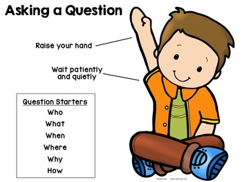 Free Download: Asking a Question Poster and Compliment Cards for.