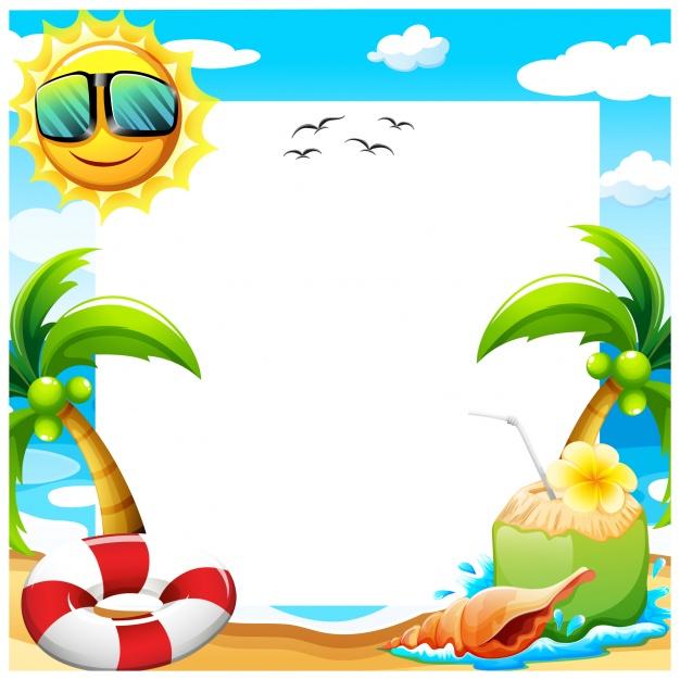 Summer background design Vector.