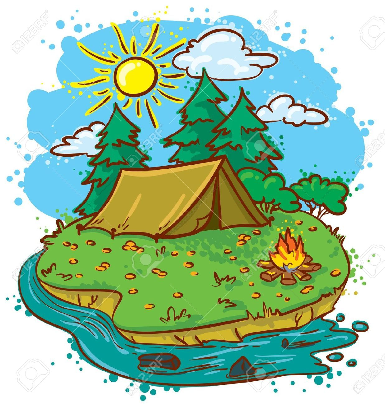 Images For > Camp Clipart.