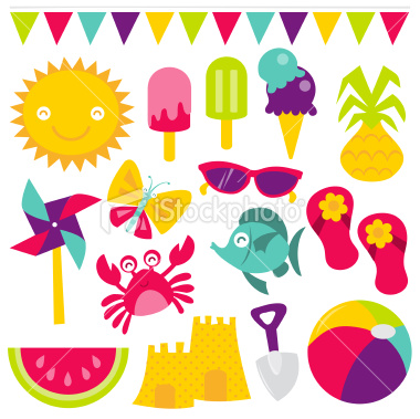 Simple Summer Clipart Time.