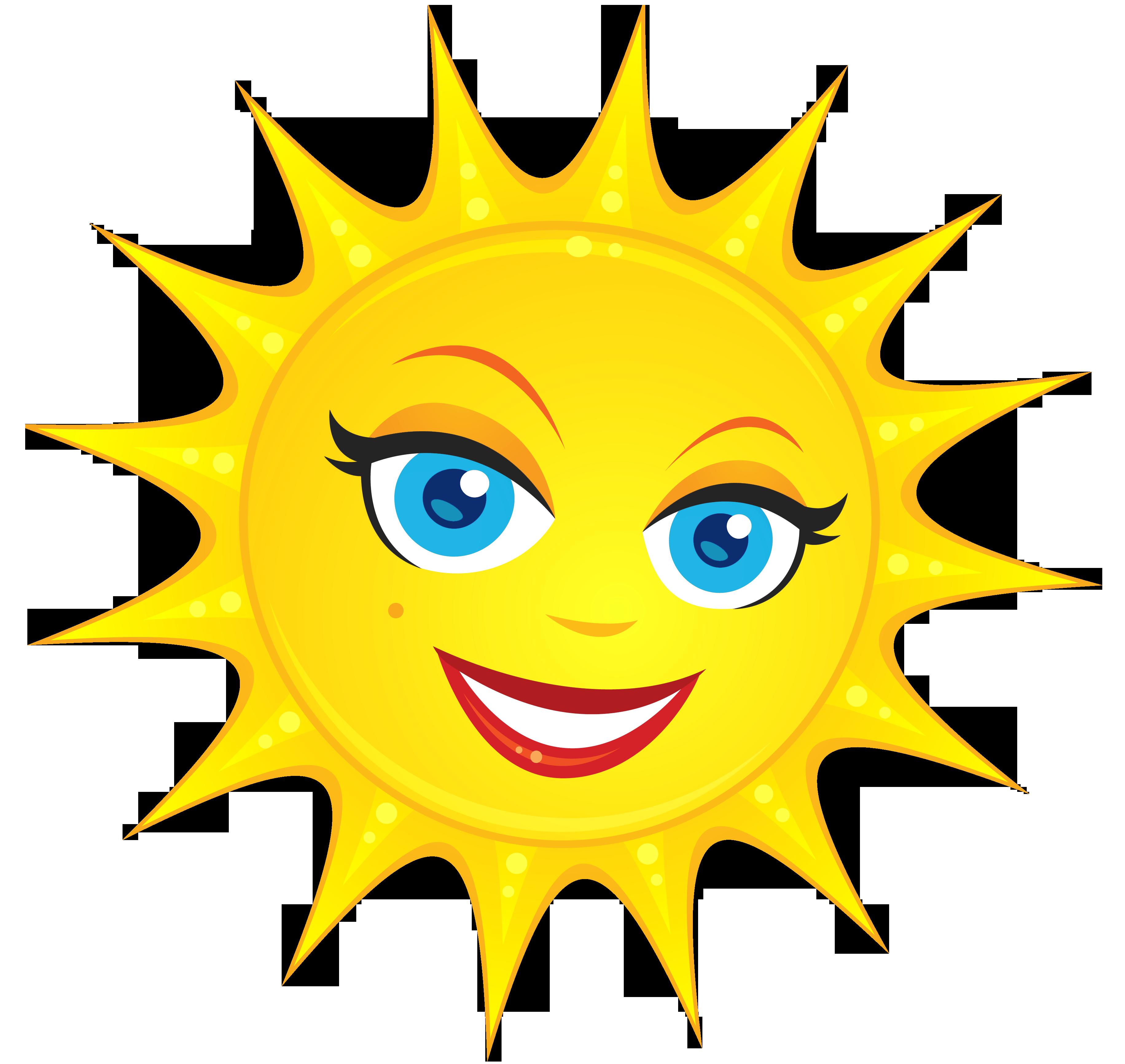 Transparent Cute Sun PNG Clipart Picture.