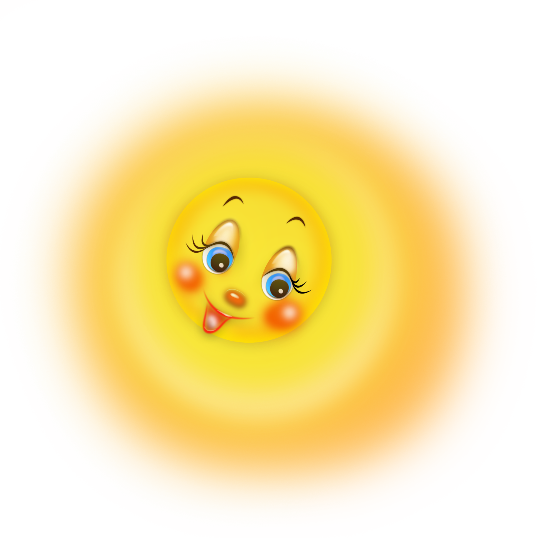 Transparent Cartoon Cute Sun PNG Clipart Picture.