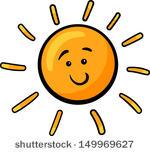 Cartoon Sun Vector.