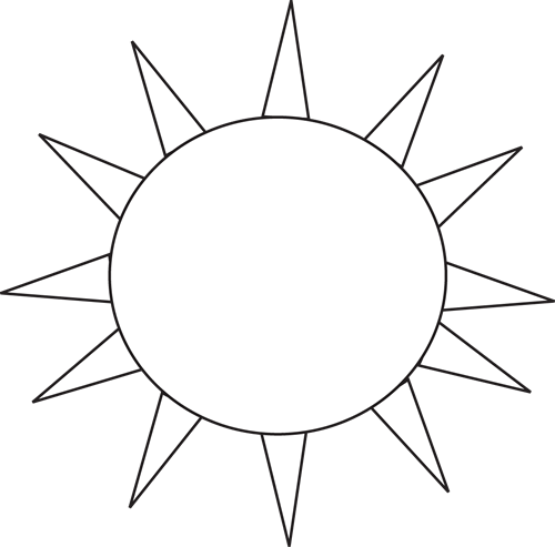 Black and White Black and White Sun for Letter S.