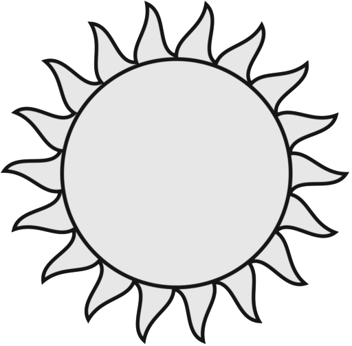Free Black And White Sun Clipart, Download Free Clip Art.