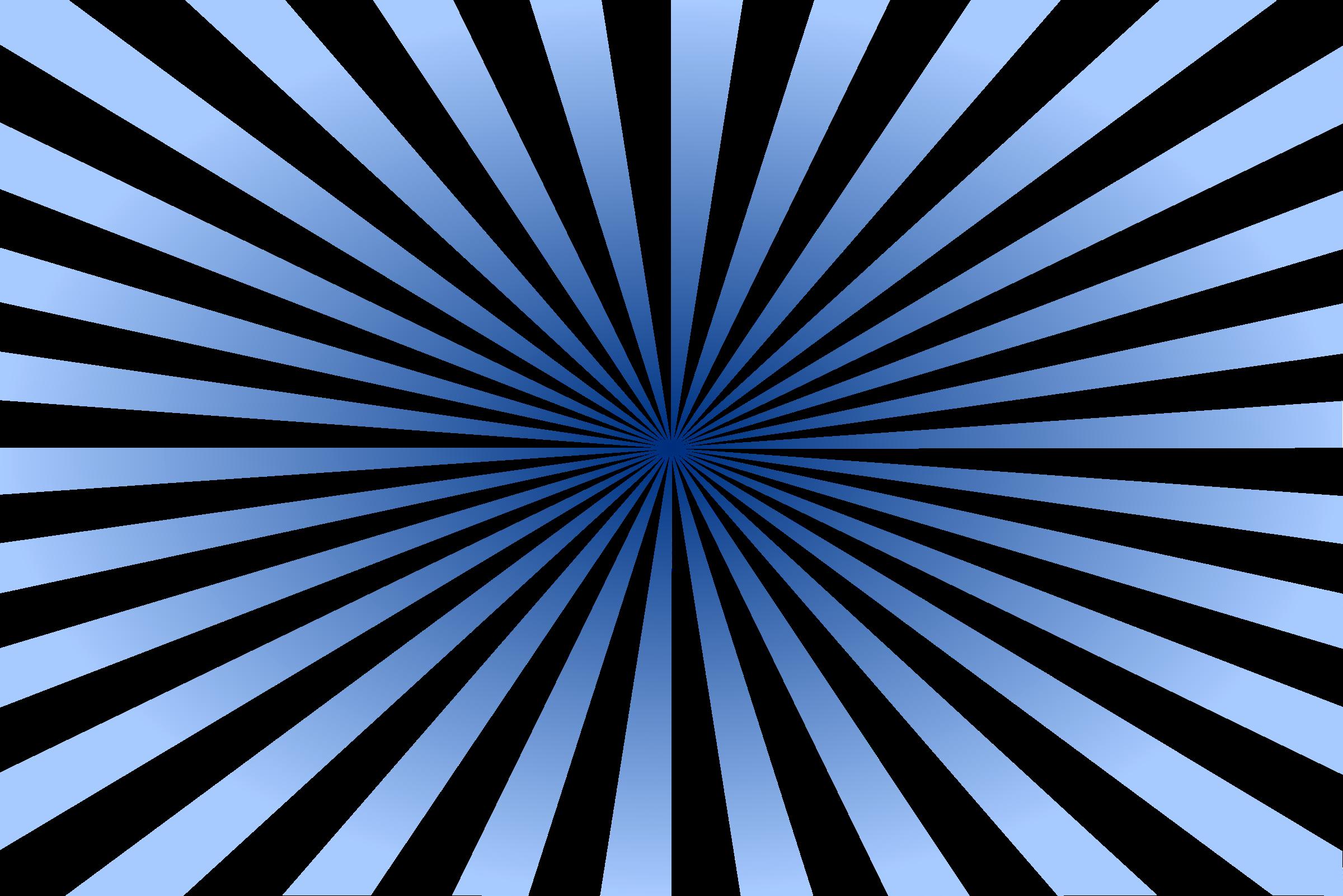 Blue Sunburst Vector Clipart image.