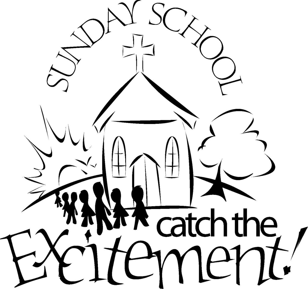 Sunday School Clipart Black And White (99+ images in Collection) Page 2.
