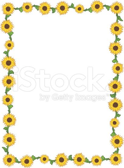 free sunflower page borders for word.