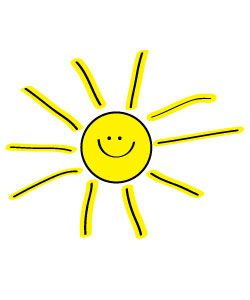 Free Sun Clipart to decorate for parties, craft projects, websites.