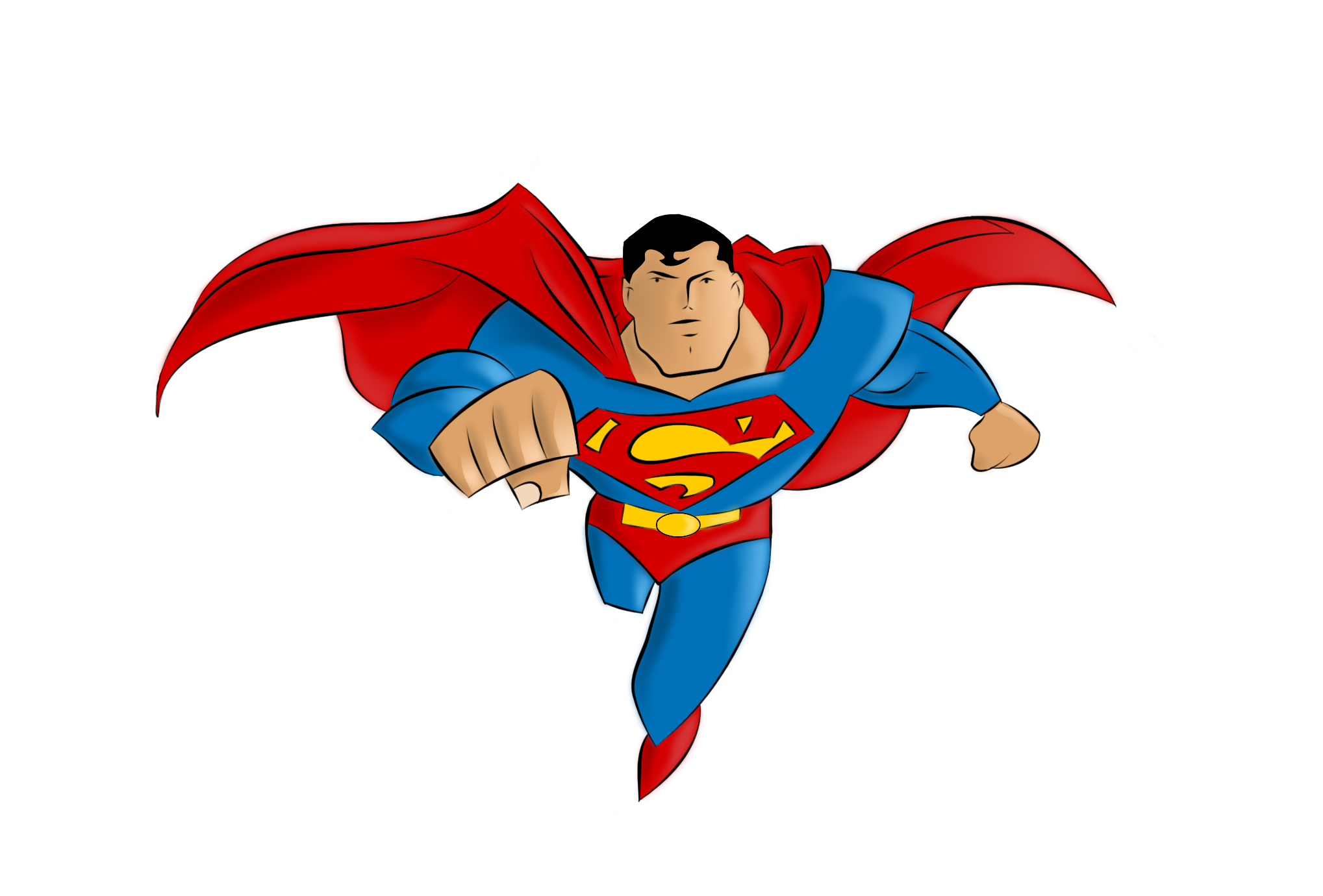 Superman Clip Art Free.