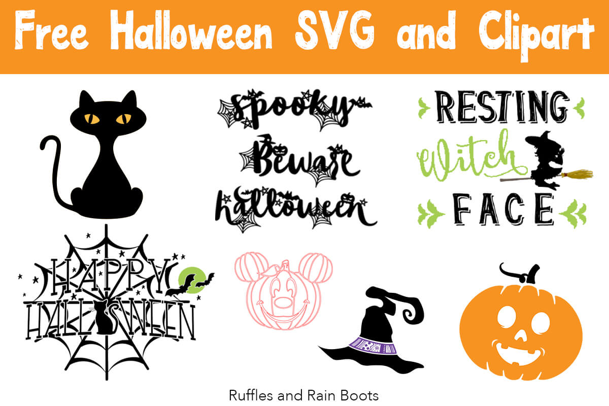 Free Halloween SVG and Cut Files for Digital Crafts.
