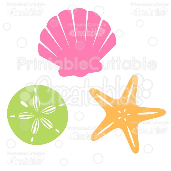 Sea Shells Free SVG Cut File & Clipart.