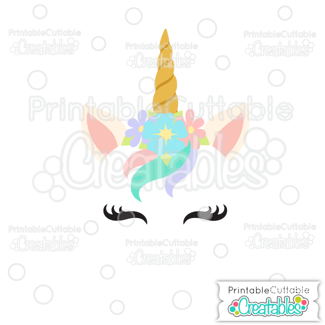 Unicorn Face Free SVG Cutting File for Silhouette, Cricut Cutting.
