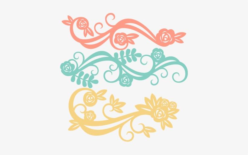 Flower Flourishes Svg Scrapbook Cut File Cute Clipart.