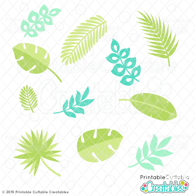 Tropical Leaves FREE SVG Files & Clipart for Cricut & Silhouette.