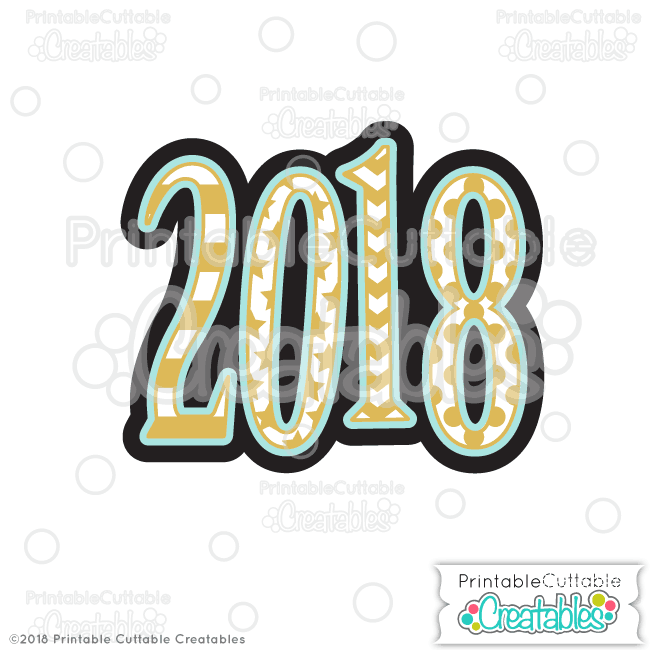 2018 Free SVG File & Clipart for Silhouette, Cricut cutting machines.