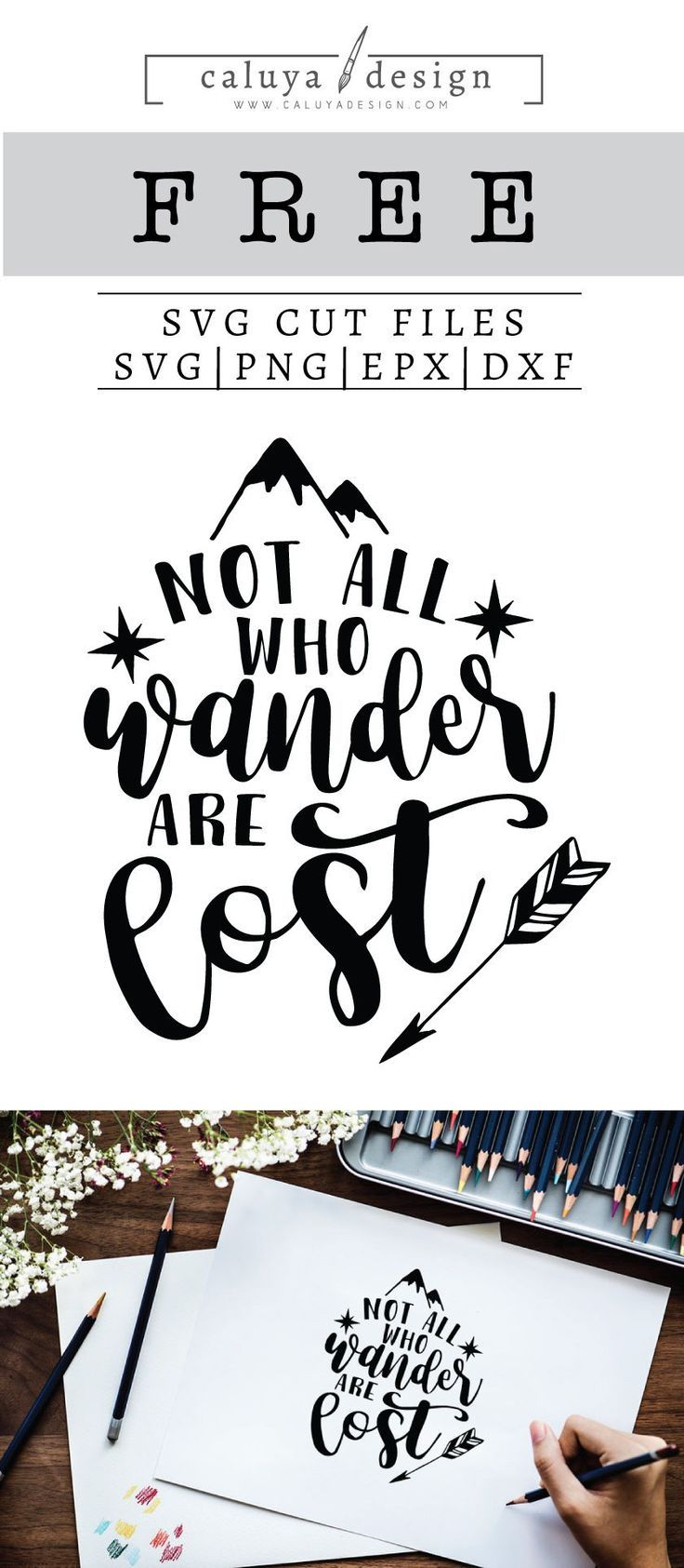 Free Not All Who Wander Are Lost SVG, PNG, EPS & DXF.