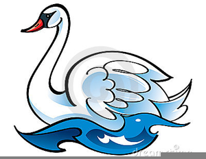 Flying Swan Clipart.