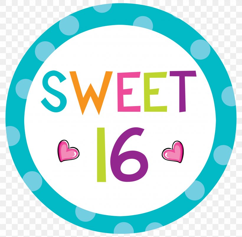 Sweet Sixteen Birthday Cake Party Clip Art, PNG, 2400x2354px.