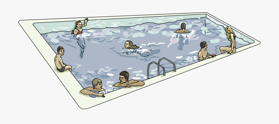 Inground Pool Clipart.