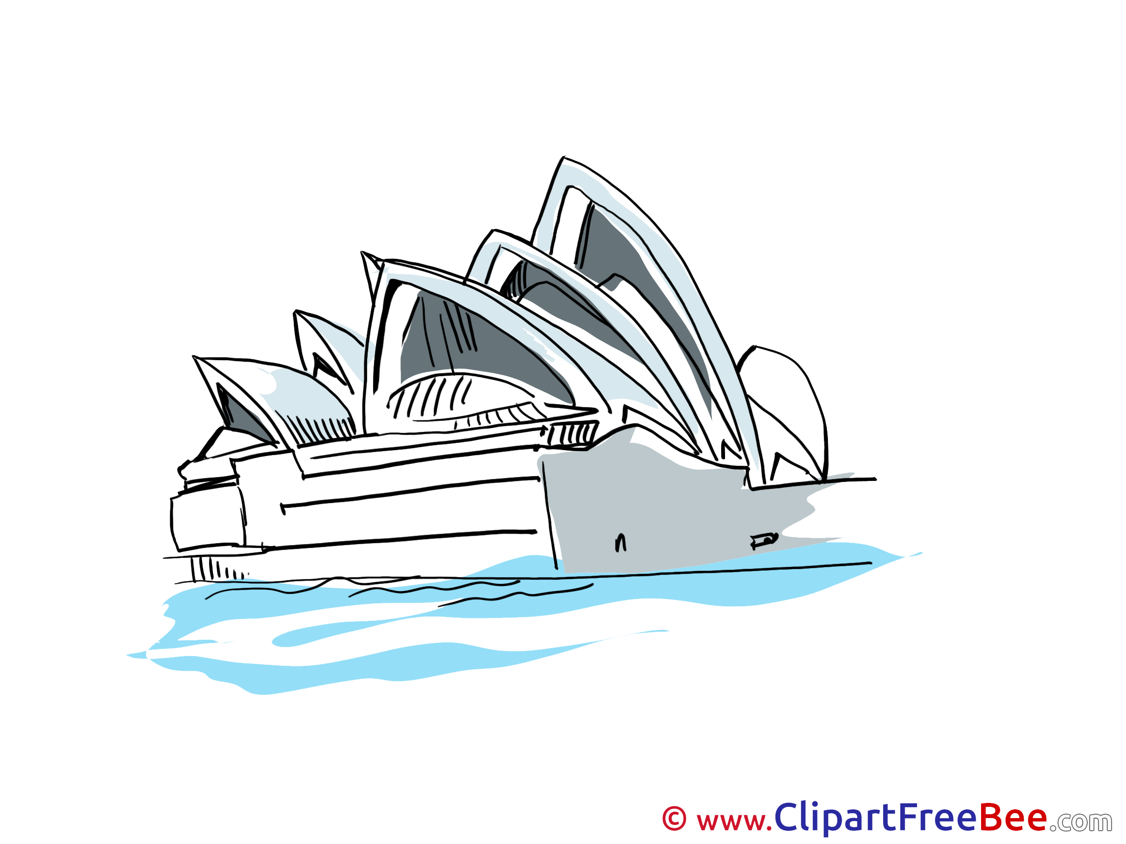 Opera Sydney Clipart free Image download.