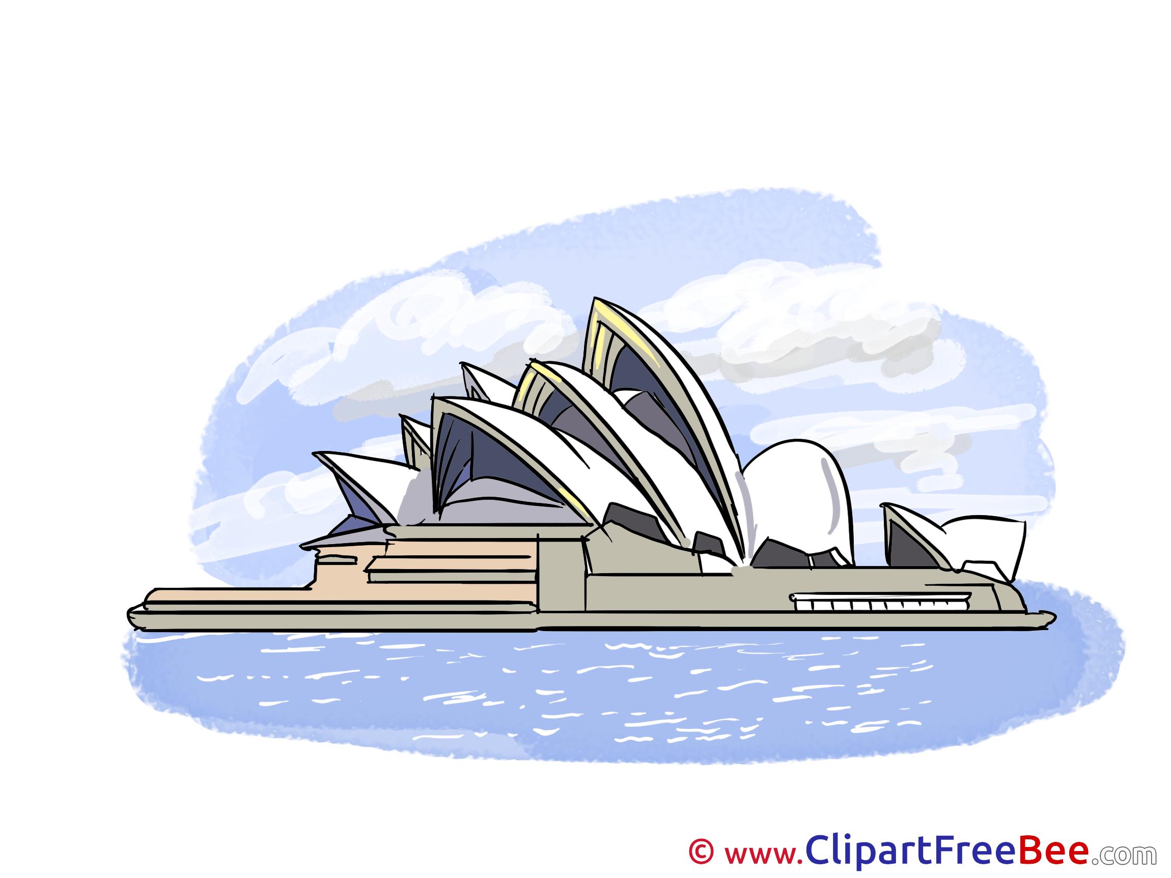 Opera Sydney Clipart free Illustrations.