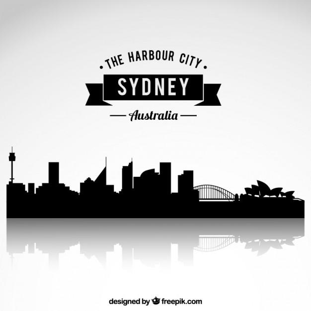 Sydney City Skyline Clipart.