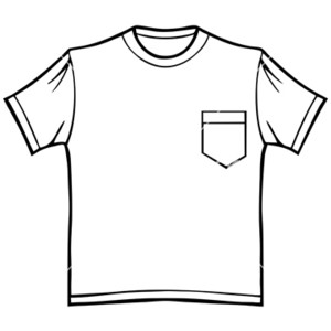 T Shirt Pocket Clipart.