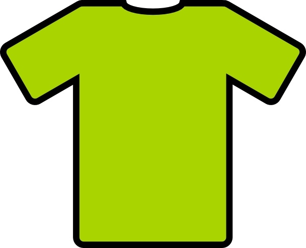 Green T Shirt clip art Free vector in Open office drawing svg.