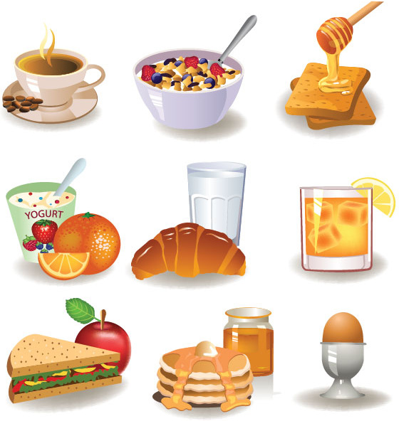 Vector breakfast table food free vector download (5,130 Free.