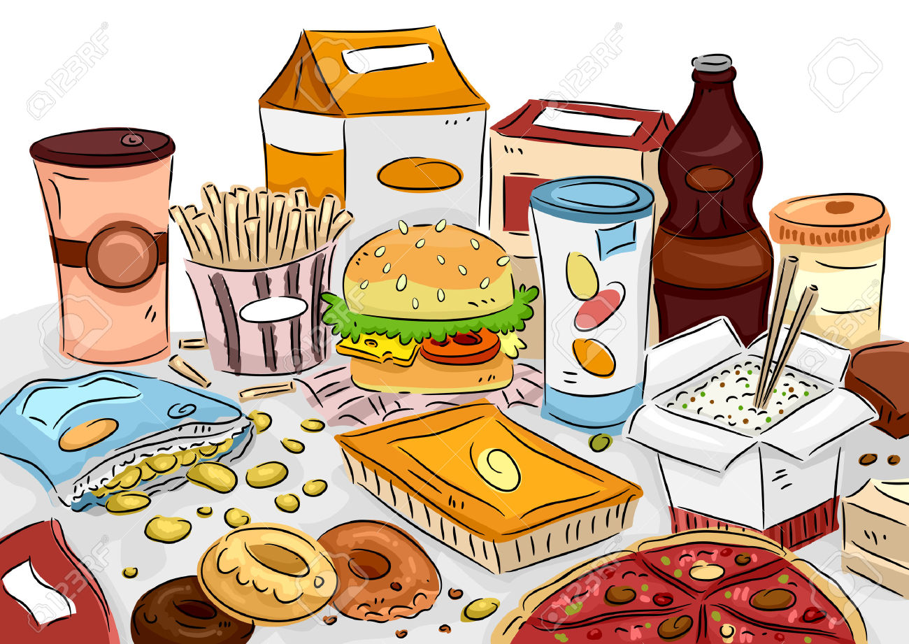 Table With Food Clipart