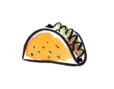 Free taco clipart vectore.